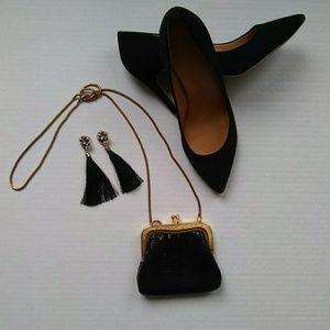 Black Sequin Clutch